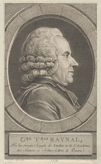 Fascinating Historical Picture of Augustin de Saint-Aubin with Portrait of Guillaume-Thomas Raynal in 1773