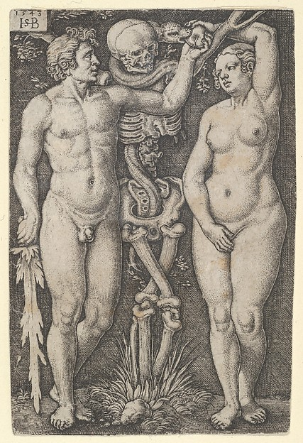 Fascinating Historical Picture of Sebald Beham with Adam and Eve in 1543
