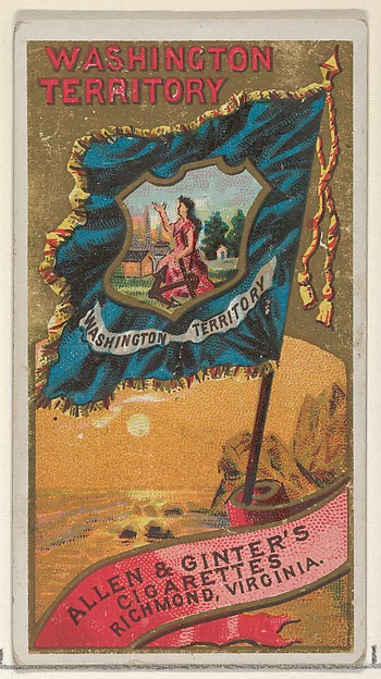 Washington Territory, from Flags of the States and Territories (N11) for Allen & Ginter Cigarettes Brands