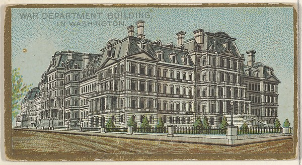 War Department Building in Washington, from the General Government and State Capitol Buildings series (N14) for Allen & Ginter Cigarettes Brands