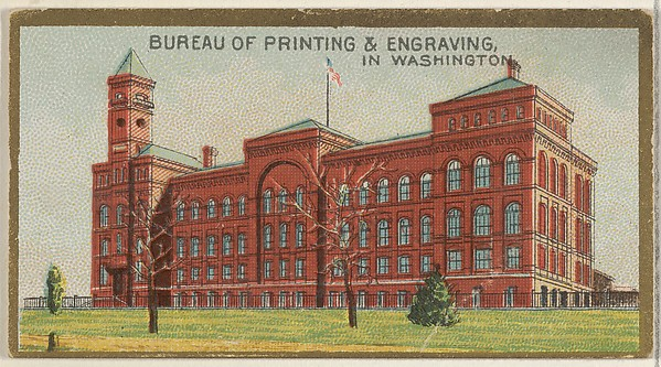 Bureau of Printing & Engraving in Washington, from the General Government and State Capitol Buildings series (N14) for Allen & Ginter Cigarettes Brands