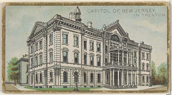Capitol of New Jersey in Trenton, from the General Government and State Capitol Buildings series (N14) for Allen & Ginter Cigarettes Brands