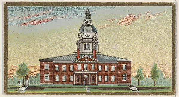 Capitol of Maryland in Annapolis, from the General Government and State Capitol Buildings series (N14) for Allen & Ginter Cigarettes Brands