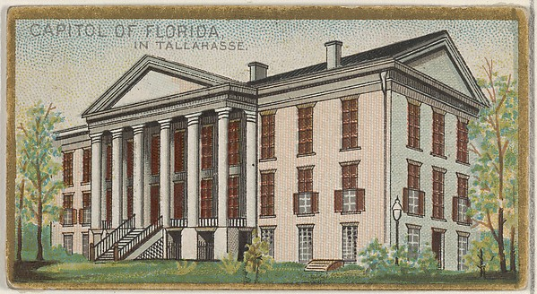 Capitol of Florida in Tallahasse, from the General Government and State Capitol Buildings series (N14) for Allen & Ginter Cigarettes Brands