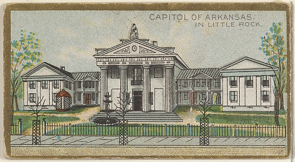 Capitol of Arkansas in Little Rock, from the General Government and State Capitol Buildings series (N14) for Allen & Ginter Cigarettes Brands