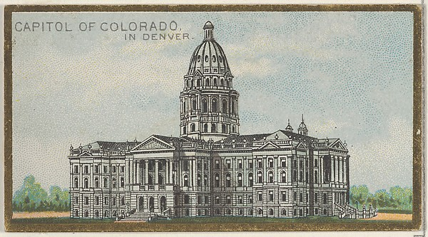 Capitol of Colorado in Denver, from the General Government and State Capitol Buildings series (N14) for Allen & Ginter Cigarettes Brands