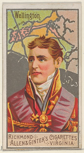 Arthur Wellesley, 1st Duke of Wellington, from the Great Generals series (N15) for Allen & Ginter Cigarettes Brands