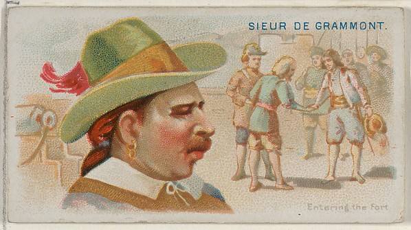 Sieur de Grammont, Entering the Fort, from the Pirates of the Spanish Main series (N19) for Allen & Ginter Cigarettes