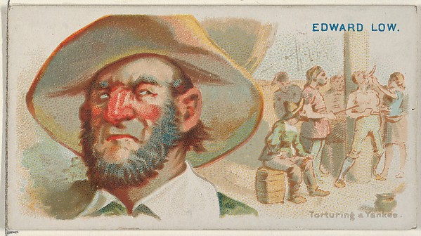 Edward Low, Torturing a Yankee, from the Pirates of the Spanish Main series (N19) for Allen & Ginter Cigarettes