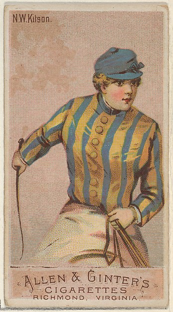 N.W. Kitson, from the Racing Colors of the World series (N22a) for Allen & Ginter Cigarettes