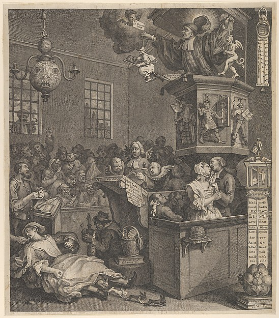 Fascinating Historical Picture of William Hogarth with Credulity Superstition and Fanaticism on 3/15/1762