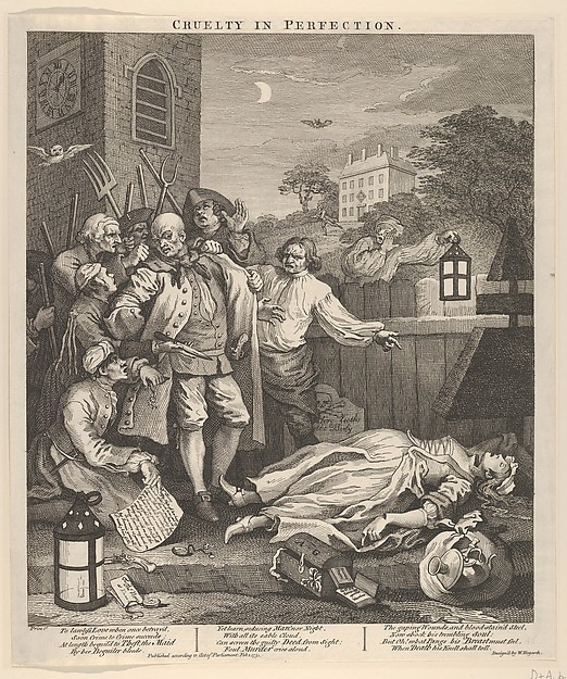 This is What William Hogarth and Cruelty in Perfection (The Four Stages of Cruelty) Looked Like  on 2/1/1751