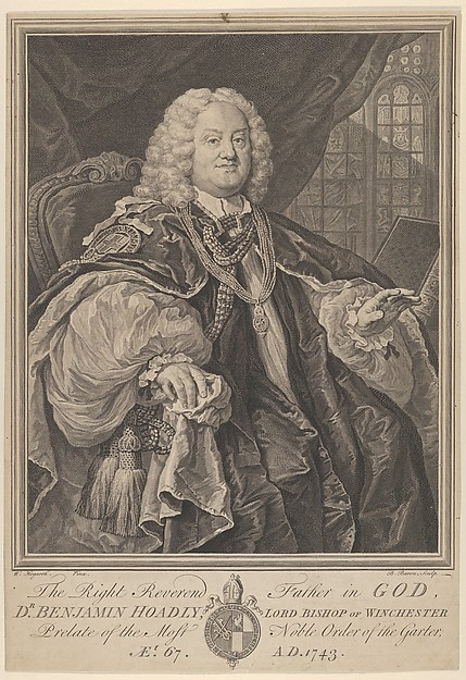 This is What William Hogarth and The Right Reverend Father in God Dr. Benjamin Hoadly Lord Bishop of Winchester Prelate of the Mos Looked Like  in 1743