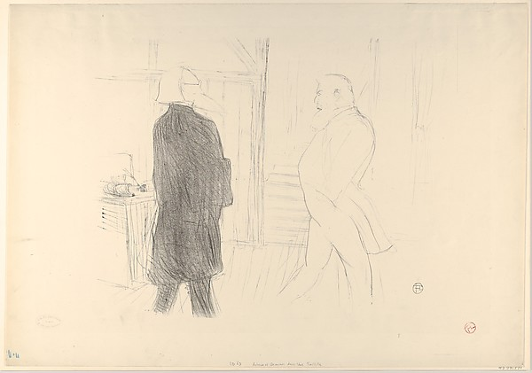 """André Antoine and Fermin Gémier in """"A Bankruptcy"""""""