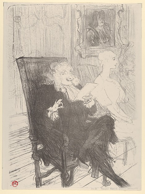 This is What Henri de Toulouse-Lautrec and Truffier and Moreno in Les Femmes Savantes Looked Like  in 1893
