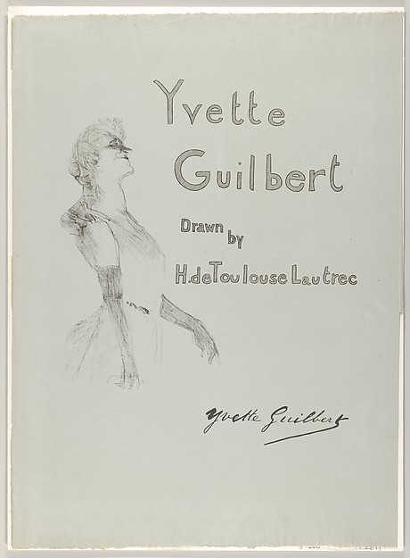 Cover - Yvette Guilbert