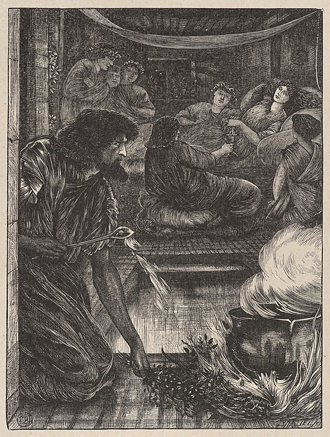 The Parable of the Burning Pot (Dalziels' Bible Gallery)