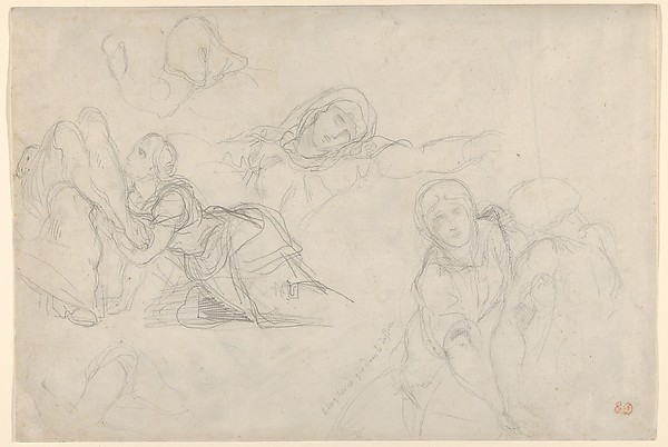 "The Virgin and Holy Women, studies for ""The Lamentation"""