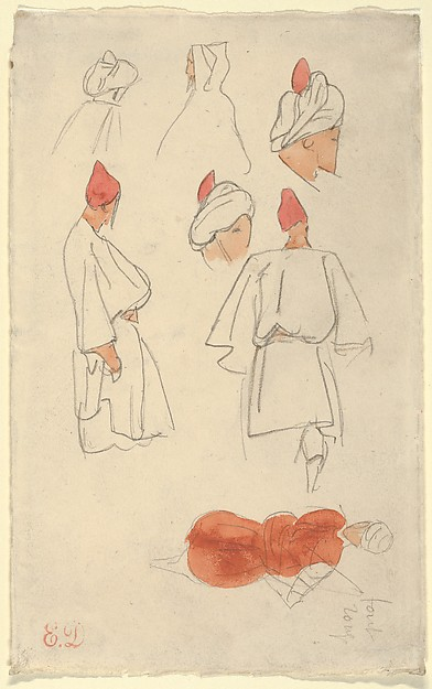 Seven Studies of Arab Men's Costume
