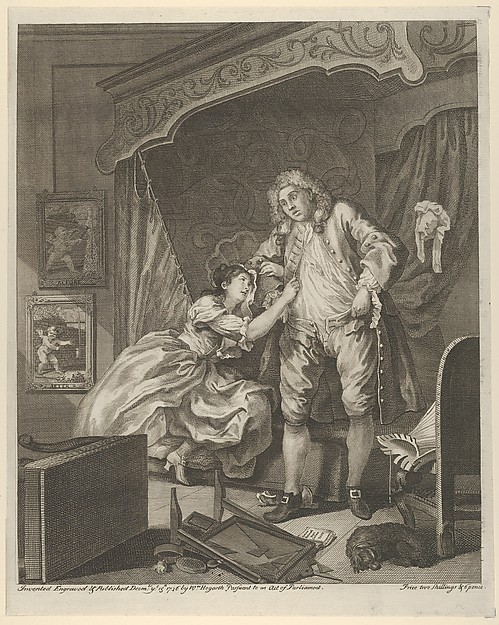 Fascinating Historical Picture of William Hogarth with After on 12/15/1736