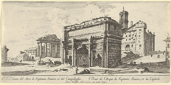 View of the Forum Romanum with the Arch of Septimius Severus from the East