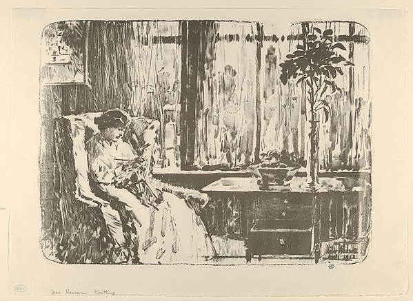 The Broad Curtain (Mrs. Hassam Knitting)