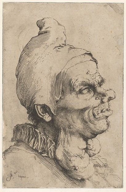 Fascinating Historical Picture of Jusepe de Ribera with Large Grotesque Head in 1622