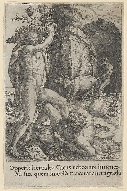 Hercules Killing Cacus, from The Labors of Hercules