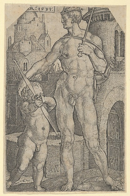 Fascinating Historical Picture of Heinrich Aldegrever with Jupiter from The Seven Planets in 1533