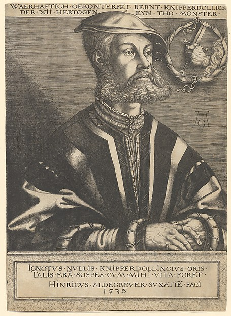 Fascinating Historical Picture of Heinrich Aldegrever with Bernt Knipperdolling in 1536