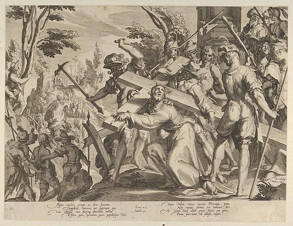 Christ Carrying the Cross, from Thronus Justitiae, tredecim pulcherrimus tabulis..., plate 4