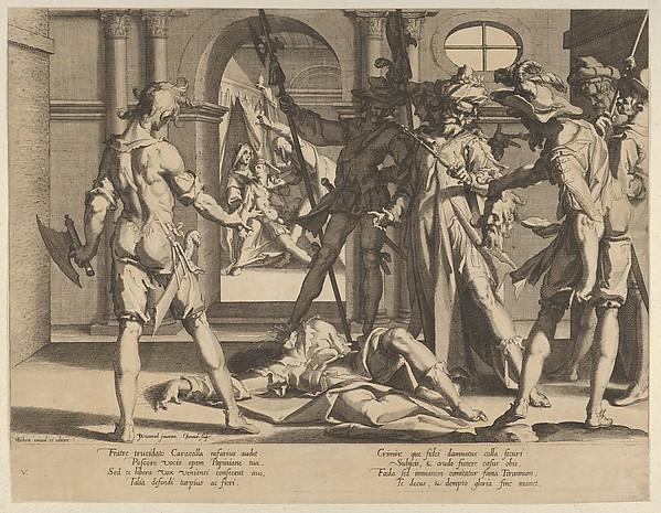 The Behading of the Roman Judge Papinian, from Thronus Justitiae, tredecim pulcherrimus tabulis..., plate 5