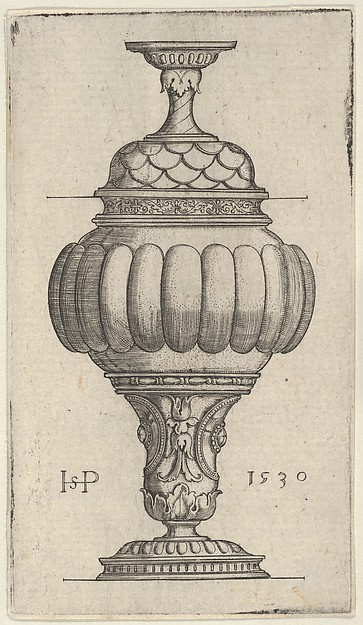 Double Goblet with Oval Decorations