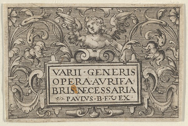 Fascinating Historical Picture of Paul Birckenhultz with Title Page from Varii Generis Opera Aurifabris Necessaria in 1600