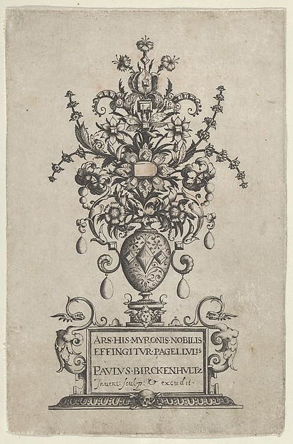 Fascinating Historical Picture of Paul Birckenhultz with Title Page from Ars His Myronis Nobilis Effingitus Pagellulis in 1600