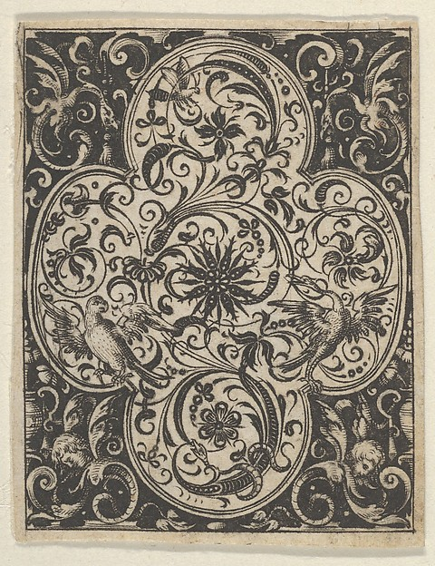 Fascinating Historical Picture of Paul Birckenhultz with Quatrefoil Design in Blackwork from Varii Generis Opera Aurifabris Necessaria in 1600