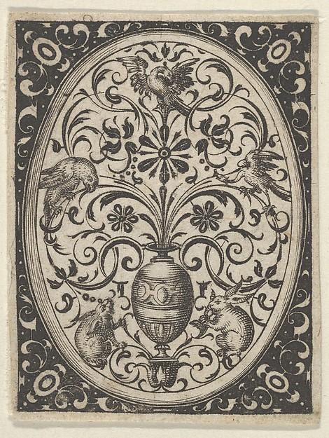 Fascinating Historical Picture of Paul Birckenhultz with Oval Design in Blackwork from Varii Generis Opera Aurifabris Necessaria in 1600