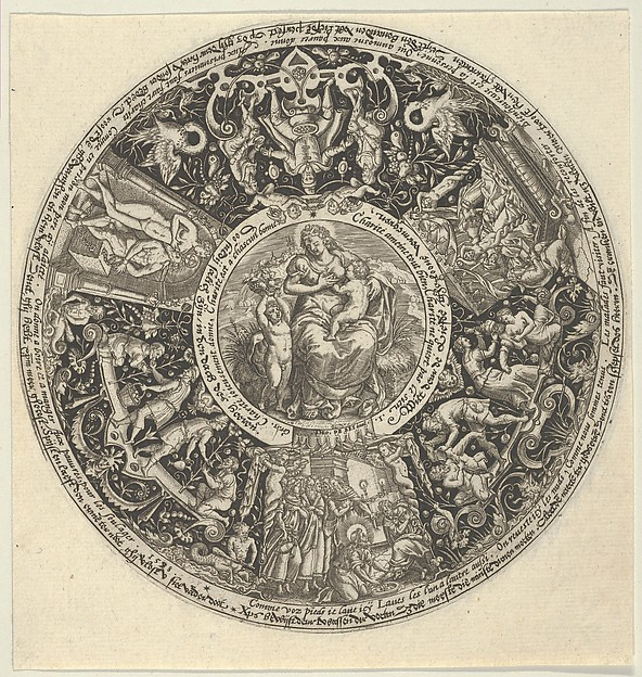 Charitas and the Acts of Charity, from a Series of Tazza Designs