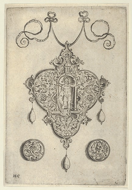 Pendant Design with Mars Standing in a Niche
