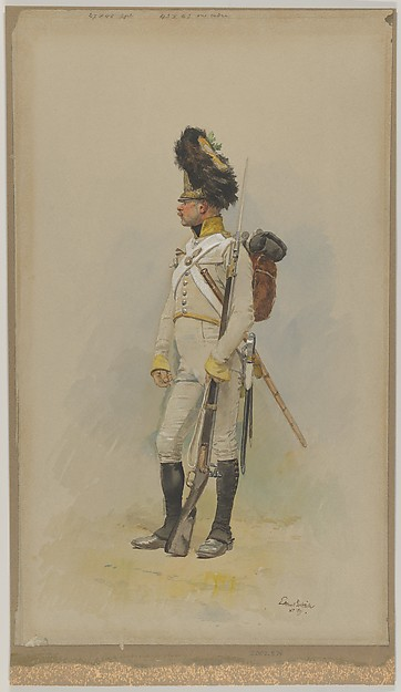 A Standing Grenadier of the Municipal Guard