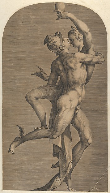 Fascinating Historical Picture of Adriaen de Vries with Mercury Abducting Psyche in 1621