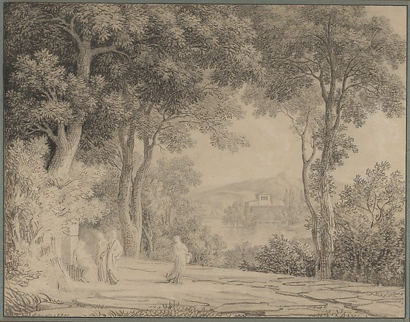 Classical Landscape with Women at a Fountain