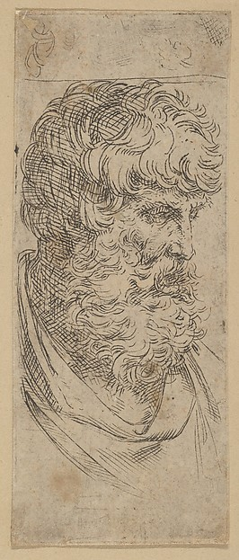 Fascinating Historical Picture of Guido Reni with Bust of a bearded man in 1600