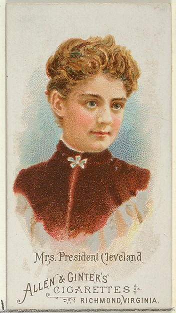 Mrs. President Cleveland, from World's Beauties, Series 1 (N26) for Allen & Ginter Cigarettes