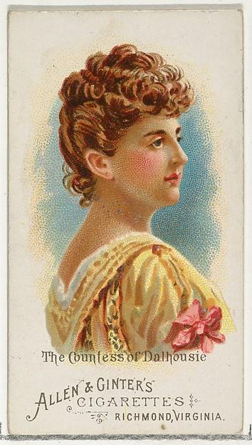 The Countess of Dalhousie, from World's Beauties, Series 1 (N26) for Allen & Ginter Cigarettes