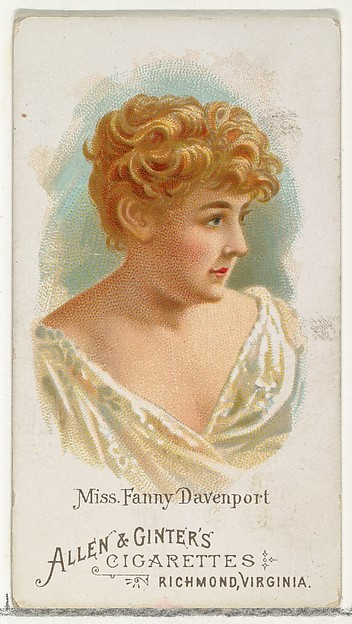 Miss Fanny Davenport, from World's Beauties, Series 1 (N26) for Allen & Ginter Cigarettes