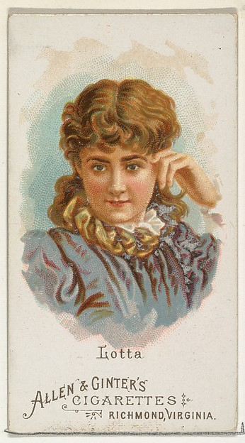 Lotta, from World's Beauties, Series 1 (N26) for Allen & Ginter Cigarettes
