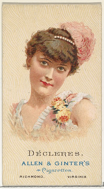 Décleres, from World's Beauties, Series 2 (N27) for Allen & Ginter Cigarettes