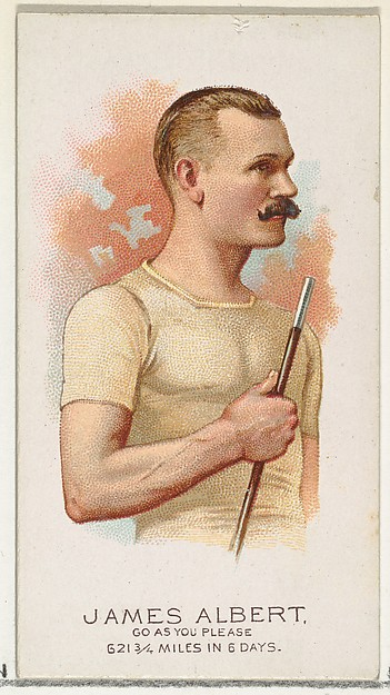 James Albert, Pedestrian-Go As You Please, from World's Champions, Series 2 (N29) for Allen & Ginter Cigarettes
