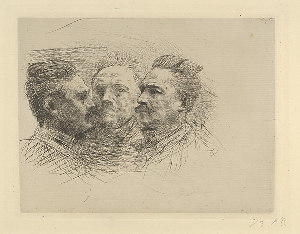 This is What Auguste Rodin and Portrait of Henri Becque Looked Like  in 1893